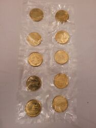 1999 U.s. Constitution We The People Sunoco Coin Series Token 10 Tokens.nipackge