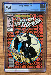 Amazing Spider-man 300 Cgc 9.4 White Pages - Newsstand Variant Rare Book
