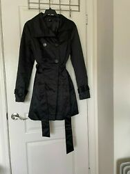 Bebe Black Coat Size Large Quilted Style Bwot