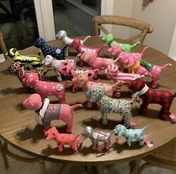 Lot Of Victoria's Secret PINK mini Dogs Lot of 20 Dogs