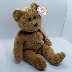 Vintage Rare Retired Ty Beanie Baby 'curly' The Bear Many Errors Mint Condition