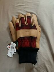 Ll Bean Rangeley Waterproof Menand039s Leather Gloves Red Plaid Small