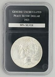 1923 Peace Silver Dollar Uncirculated 1 In Pcs Case - Very Good Condition