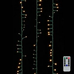 Raz Imports 36.5' Snake Garland Green Wire, 500 White Lights With Remote