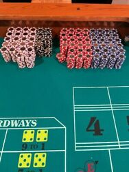 Huge Poker Home Game Chip Set Coin Inlay 14 Gram 1 5 25 100 Free Shipping