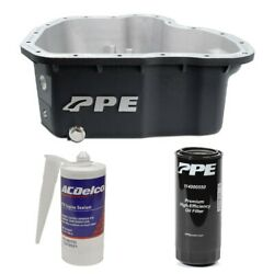 Ppe Black Deep Oil Pan And Filter With Acdelco Rtv Sealant For 11-16 6.6l Duramax
