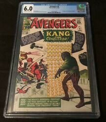 Marvel Comics Avengers 8 Cgc 6.0 Ow-w First Appearance Of Kang View Photos