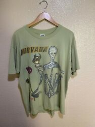 Nirvana Incesticide Vintage T-shirt 90and039s 1994 Size Xl 100 Authentic Anvil Tee