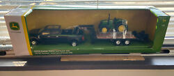 New 1/32 John Deere Ford F350 Pickup 5075e Tractor And Trailer Toy Set - Lp68113