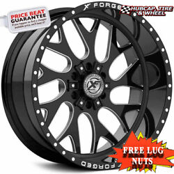 Xf-flow Forged Off-road Xfx-301 26x12 Black Milled Window Set Of 4