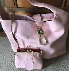 dooney and bourke logo lock hobo Baby Pink Full Set Mint Condition $159.00
