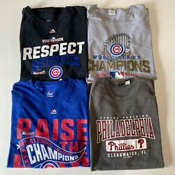 Lot Of 4 Pro Sports T-shirts Men's Size 2xl Mixed Mlb Cubs Phillies