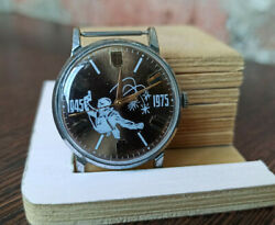 Rare Ussr Watch Pobeda 1945 1975 Collectible Soviet Vintage Serviced