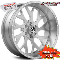 Xf-flow Offroad Xfx-301 26x12 Brushed Milled Window Wheels Set Of 4 Rims