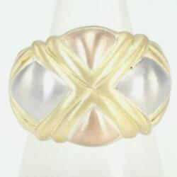 Platinum 900 18k Yellow Gold Pink Ring 14 Size About14.7g Free Shipping Used