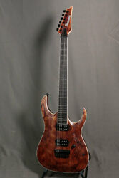 Used Ibanez Iron Label Series Rgaix6u Abs Antique Brown Stained Hh W/gb