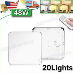 20pcs 48w Led Ceiling Light Dimmable Indoor Ultra Thin Flush Mount Home Fixtures