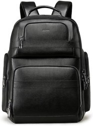 Bopai 40l Genuine Leather Backpack For Men 15.6 Inch Laptop Backpack With Usb Ch
