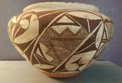 Large 1930's Acoma Pueblo Pottery 6.5 X 9.5 Olla Native American Indian