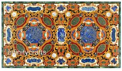 Marble Coffee Table Top Mosaic Art Center Table For Home Furniture 30 X 72 Inch