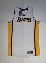 New Adidas Rev 30 Los Angeles Lakers White Pro Cut Jersey Size Xl+2