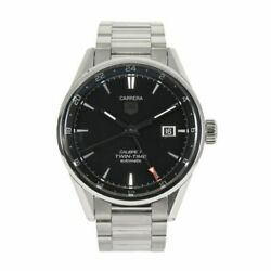 Tag Heuer Carrera Wwb3679 Stainless Steel 40mm Case Black Dial / 18.5cm Strap