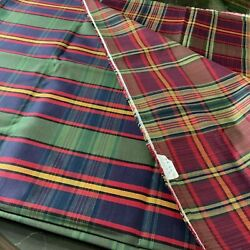 Fabric Material Vintage Upholstery Twill Plaid 6 Yards 8 In Crafts Sewing El061