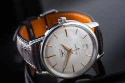 Menandrsquos Stainless Steel Longines Flagship Heritage Automatic 39mm Watch / Boxandpap