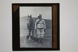 Private In Basutoland Police South Africa And Horse - Glass Lantern Slide