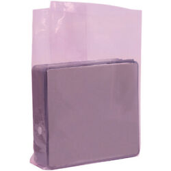 Gusseted Anti-static Poly Bags, 24 X 10 X 36 Inch, 2000 Pack, 2 Mil, Pink