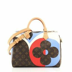 Louis Vuitton Speedy Bandouliere Bag Limited Edition Game On Monogram Canvas 30
