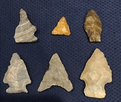 Authentic Arrowheads Indian Artifacts Bloomsburg Pa Lot