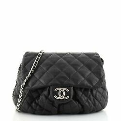 Chain Around Flap Bag Quilted Leather Large