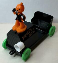 1950and039s Pirateand039s Auto With Jol Scarecrow Hard Plastic Candy Container For Repair