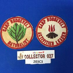 Boy Scout 2 Camp Roosevelt 1940's Patches Naturalist Activities Leader Ncac