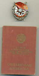Soviet Russian Ussr Documented And Researched Order Of Red Banner 36778 W/coa