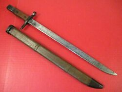 Wwii Japanese Type 30 Last Ditch Bayonet W/wooden Scabbard - Talw Arsenal - Rare