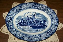 Staffordshire England - Liberty Blue - 14-inch Oval Platter - Superior Cond.