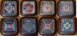 Complete Plate Set Of 8 Framed Cherished Traditions Quilt Plates Mary Ann Lasher
