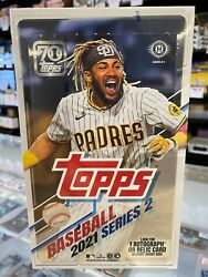 2021 Topps Series 2 Factory Sealed Hobby Box 1 Hit Free Shipping