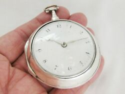 Silver Pair Case Verge Fusee Pocket Watch William Thornhill London Year 1795
