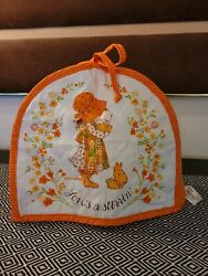 Vintage Orange Holly Hobbie Kitchen Toaster Cover Quilted American Greetings