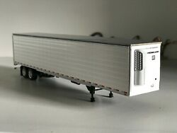 White Tandem Axle Dcp 1/64 53and039 Utility Trailer W/ Thermoking Reefer