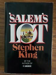 Collectible 1975 Stephen King Salem's Lot 1st Edition Doubleday Hardcover Book