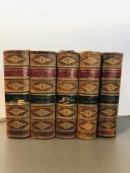Antique 1881 Renaissance In Italy By John Sydmonds Lot Of 5 Leather Bound Books