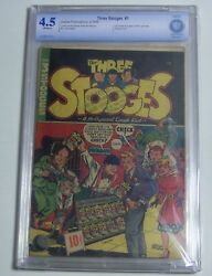 Three Stooges 1 Cbcs/cgc/pgx 4.5 Ow 1949 Jubilee Pub. 1st Three Stooges In Own