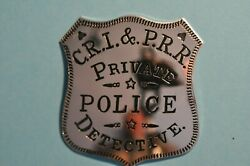 Sterling Official Badges Great Western Lawmen Cri And Pacific Railroad Detective