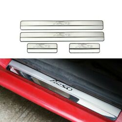 Stainless Steel Door Sill Scuff Plates Cover Fit For Ford New Fiesta Sticker