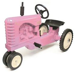 Massey Harris 33 Narrow Front Pink Pedal Tractor By Scale Models Nib
