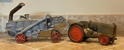 1930 Arcade 125 Cast Iron Mccormick Deering Thresher 45112 And Tractor.
